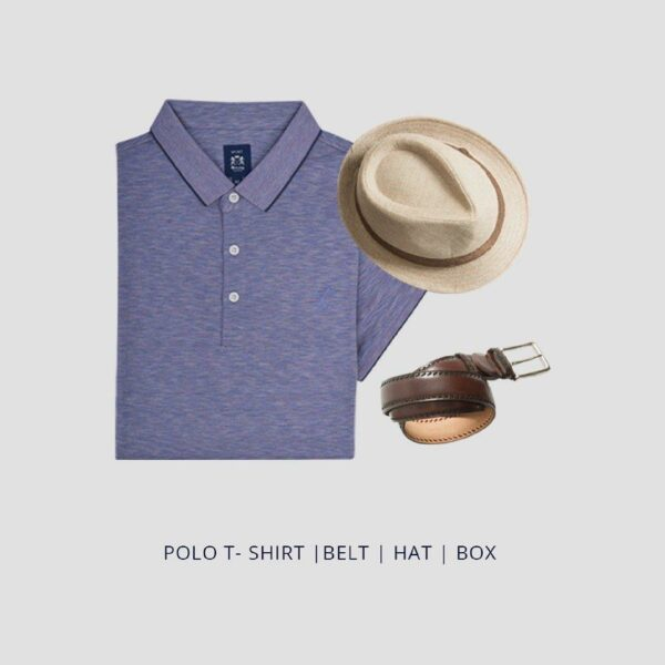 Fathers Day Gift Pack - Casualwear Polo T-shirt, Belt and Hat