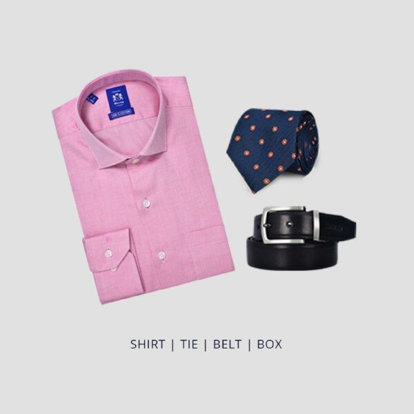 Fathers Day Gift Pack - Simple Formalwear pack Shirt, Tie and Belt